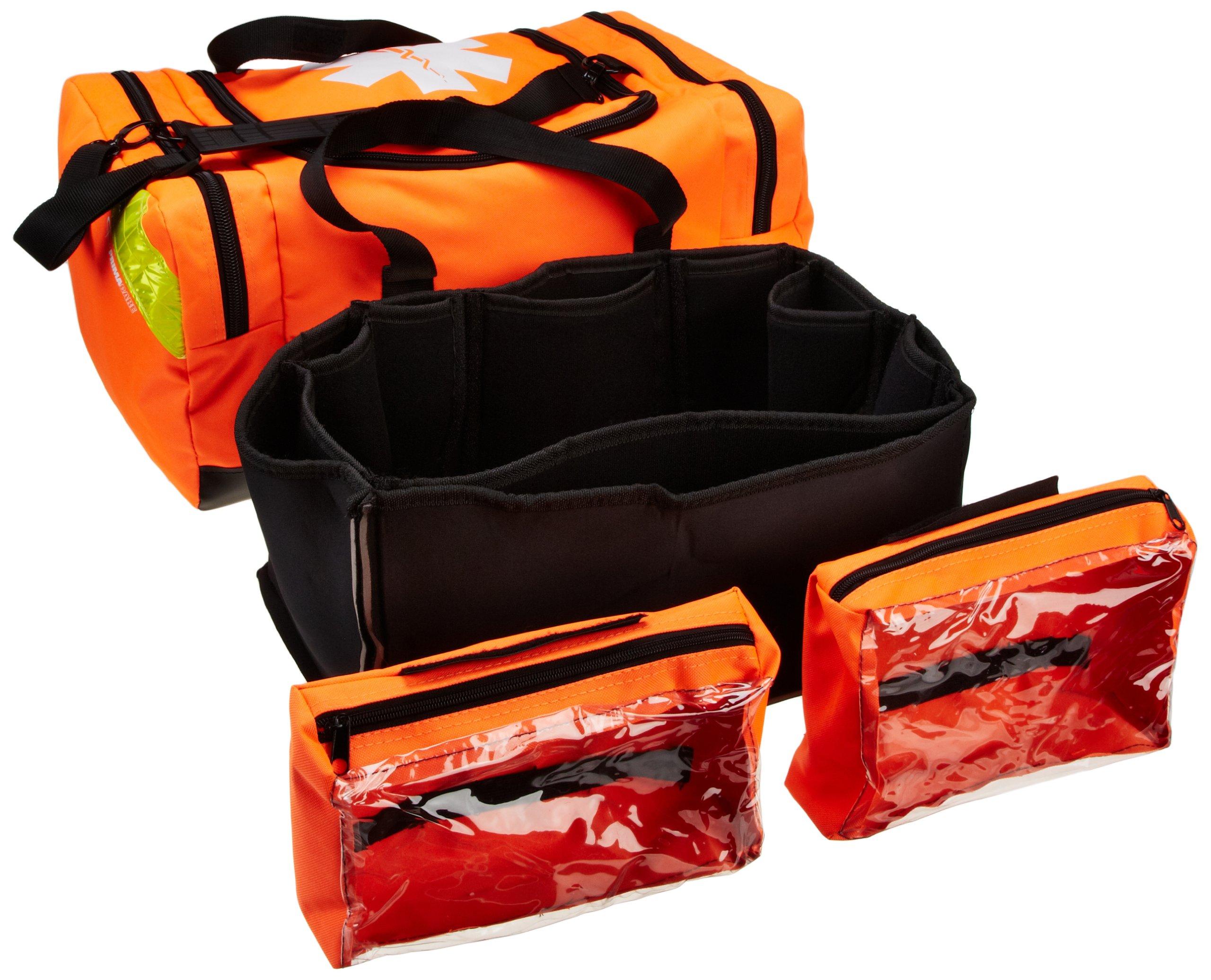 Primacare KB-4135-O First Responder Bag, 21'' Length x 12'' Width x 9'' Height, Orange