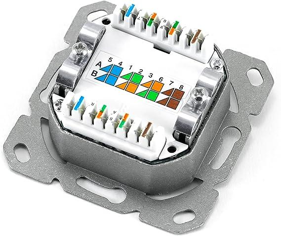 2 puertos combinados Conexión horizontal DSL Red universal Toma de ...