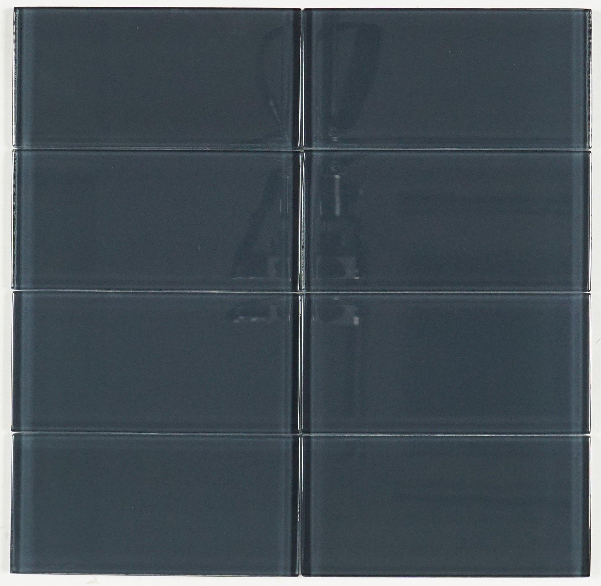 THG-10 Dark grey subway tile 3x6 - Kitchen and Bath Backsplash Wall Tile(8pcs)