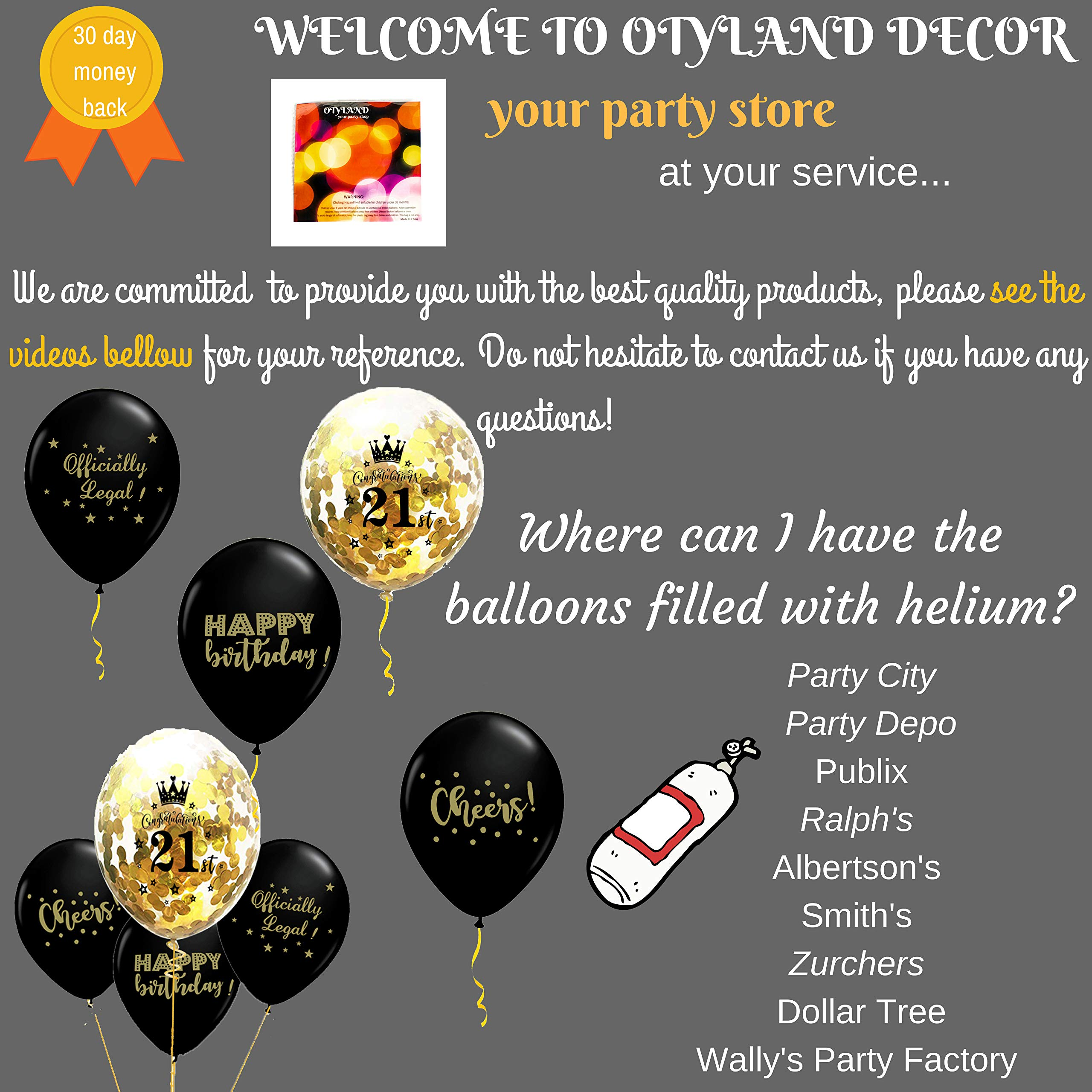 Otyland Decor 21st Birthday Decorations