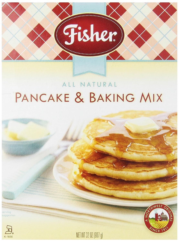 amazon com fisher pancake u0026 baking mix 32 ounce boxes pack of