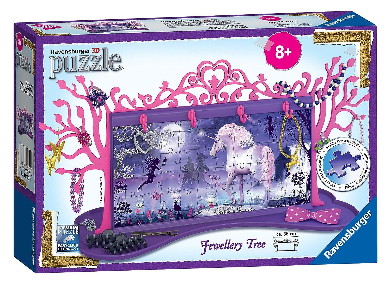 Ravensburger 12102 My 3D Boutique, Unicorns Jewellery Tree 3D Jigsaw Puzzle - 108 Pieces