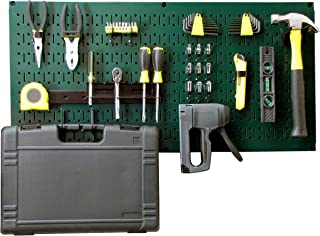 product image for Wall Control Modular Pegboard Tool Organizer System - Wall-Mounted Metal Peg Board Tool Storage Unit for Pegboard Tiling (Green Pegboard)