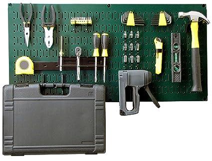 Wall Control Modular Pegboard Tool Organizer System   Wall Mounted Metal  Peg Board Tool Storage