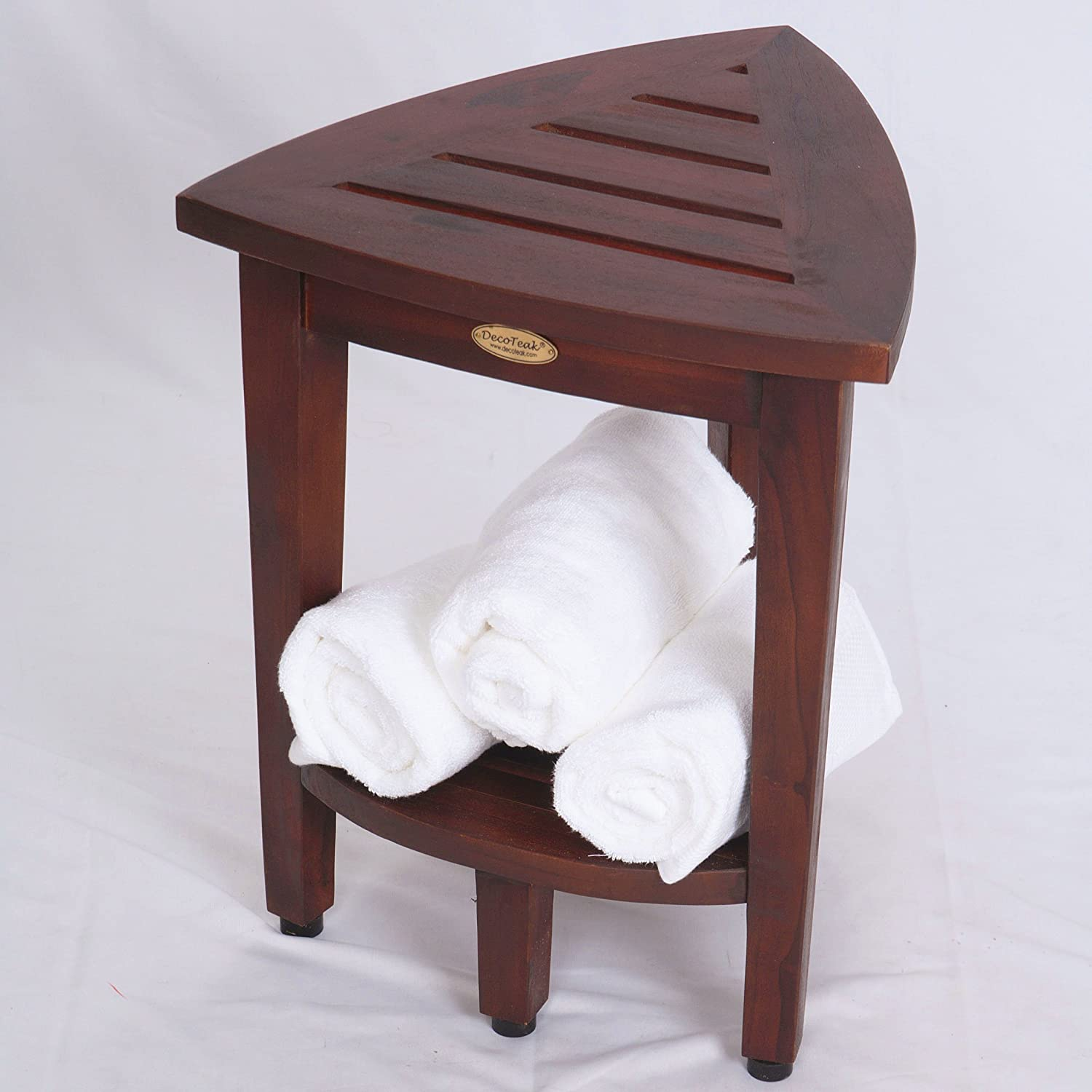 Amazon.com: New- Oasis FULLY ASSEMBLED Teak Corner Shower Bench ...