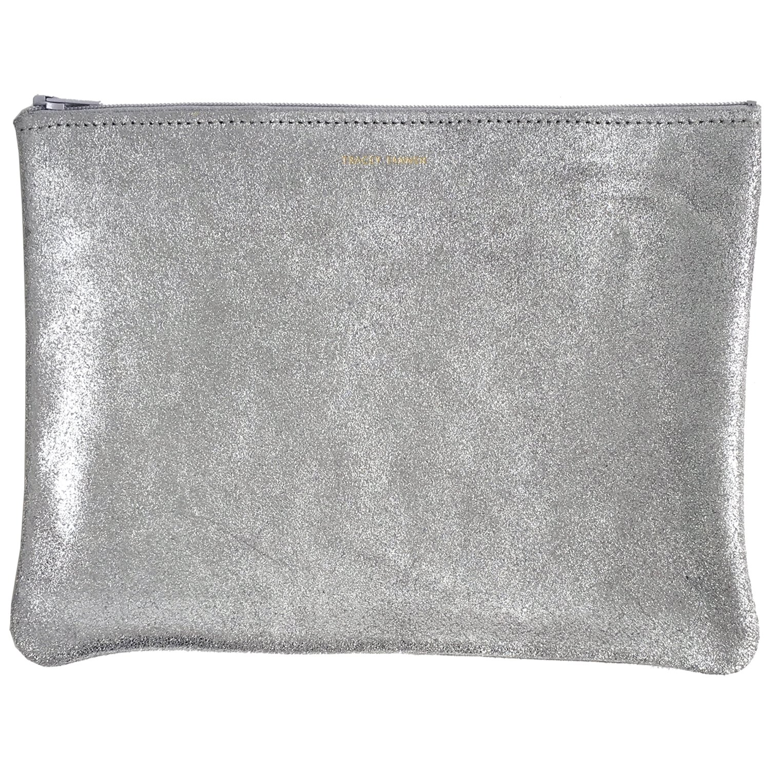 Tracey Tanner Large Zipper Top Pouch - Frost Sparkle