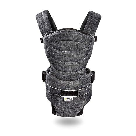 Hauck 2 Way Carrier - Mochila portabebés ergonómica, interior acolchado y con materiales suaves,