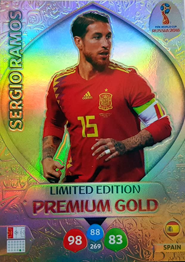 ADRENALYN XL FIFA WORLD CUP 2018 RUSSIA – SERGIO RAMOS PREMIUM GOLD LIMITED EDITION TRADING CARD – ESPAÑA: Amazon.es: Deportes y aire libre
