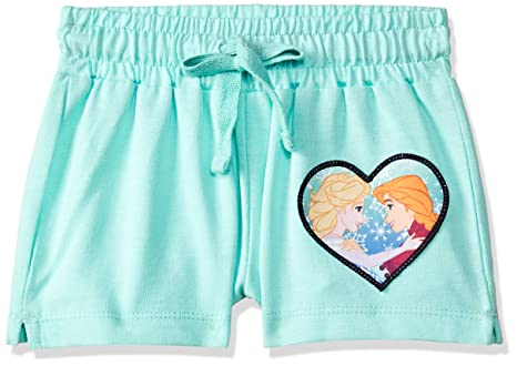 Frozen By Kidsville Girls Regular Fit Cotton Shorts Girls' Shorts at amazon