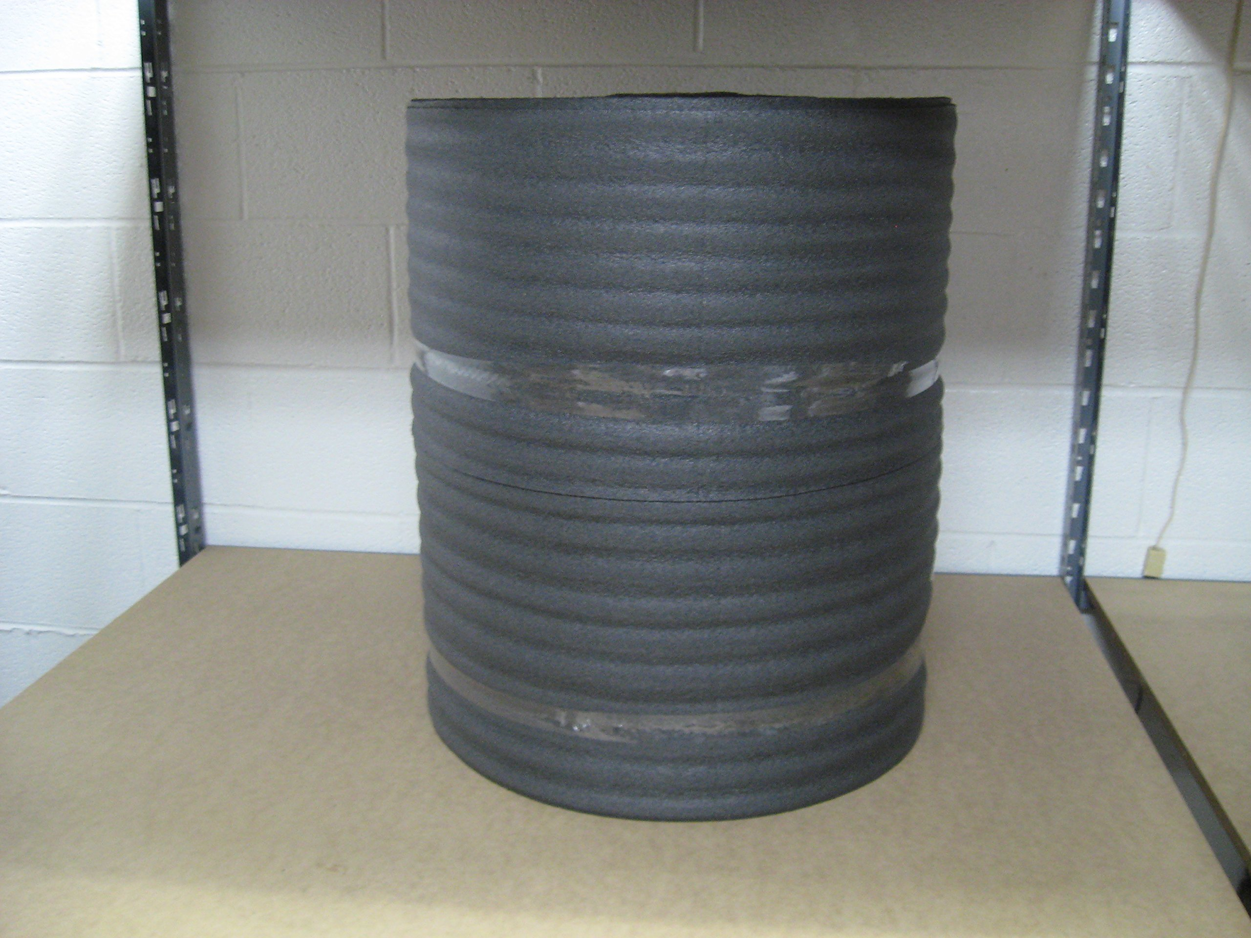 1/8'' Black PE Foam Wrap 24'' x 275' Per Roll by Cutting Edge