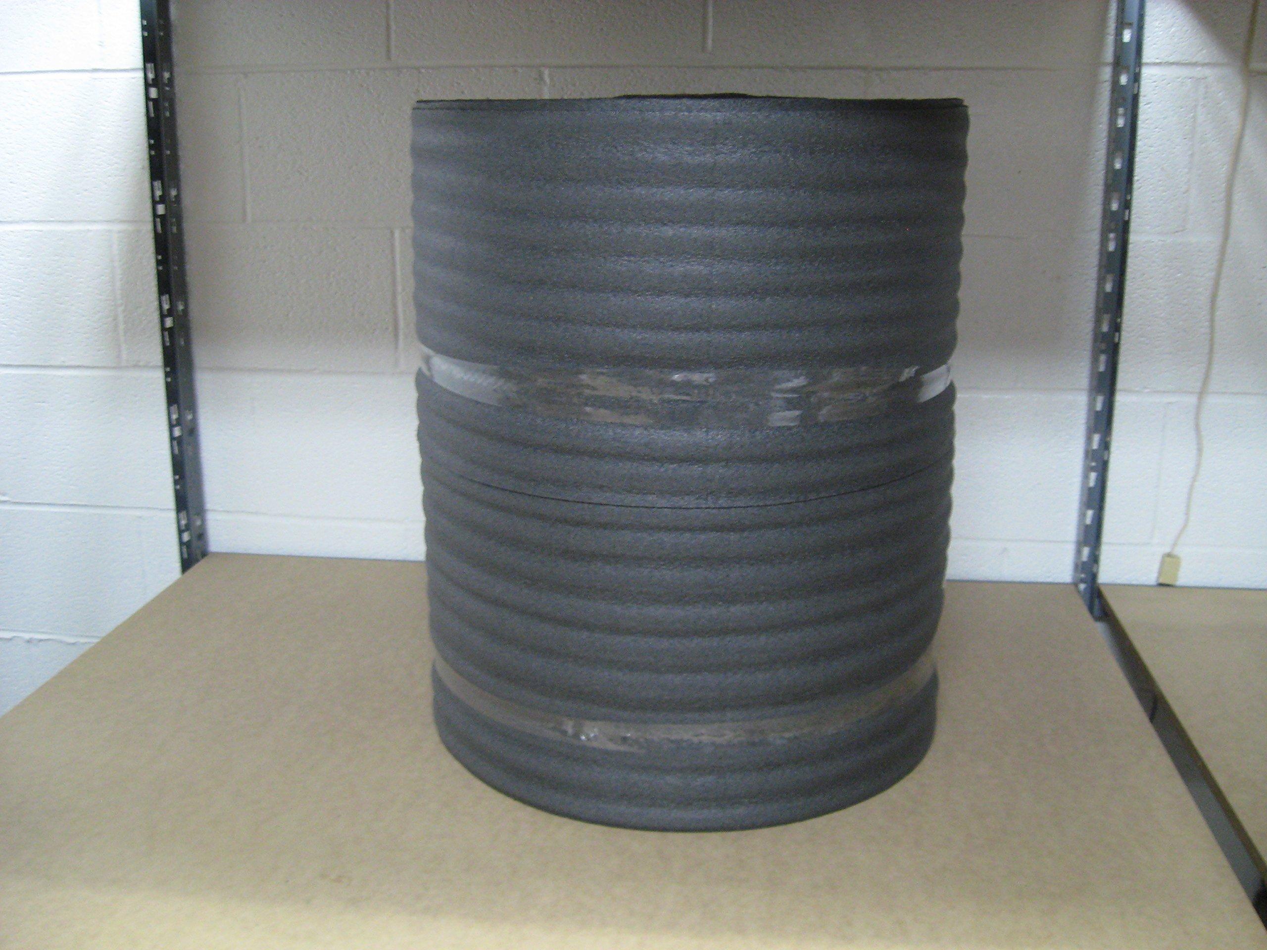 1/8'' Black PE Foam Wrap 24'' x 275' Per Roll