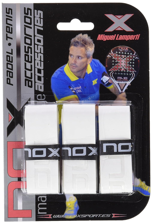 NOX Tacto Blister 3 Ud Overgrip, Unisex Adulto, Blanco: Amazon.es: Deportes y aire libre