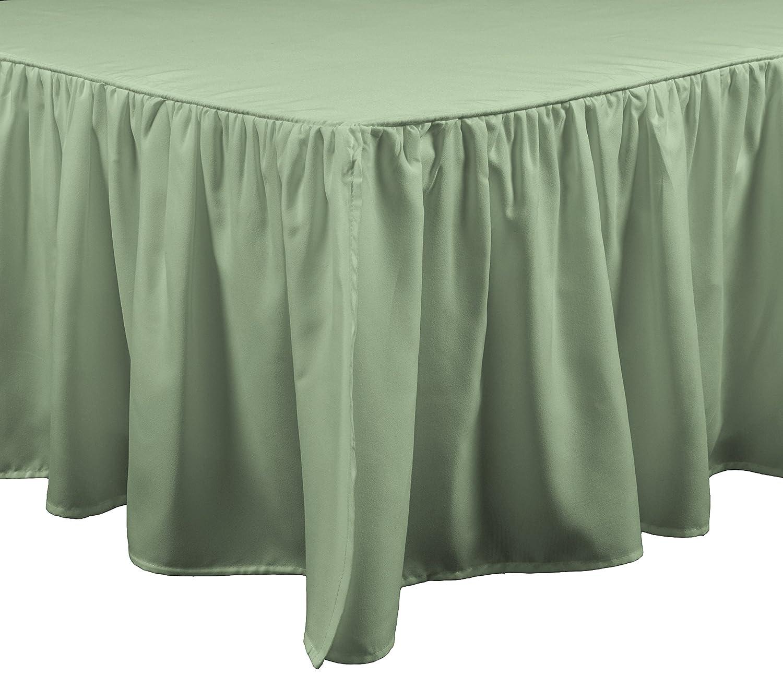 Brielle Stream Bed Skirt, Queen, Sage