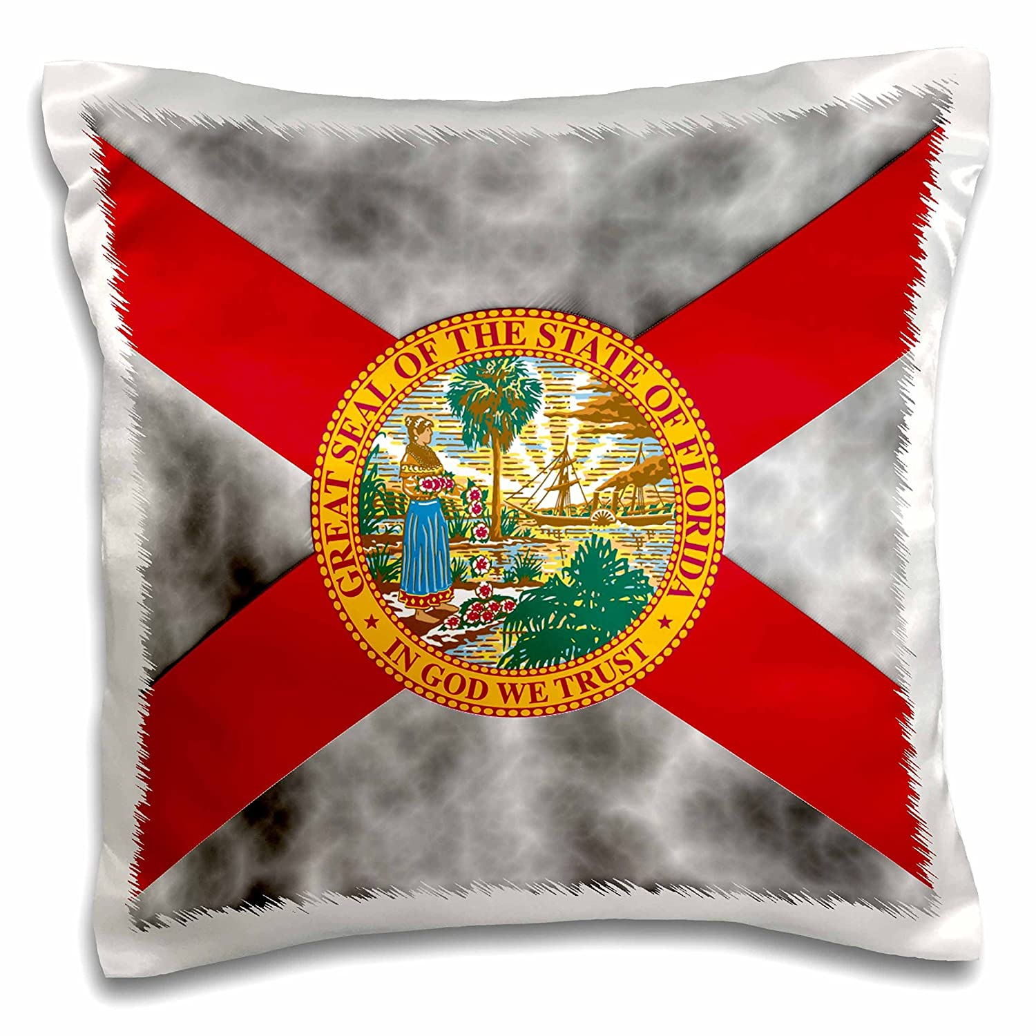 Buy 3d Rose Pc 127644 1 Florida State Flag Pillow Case 16 X 16 Online At Low Prices In India Amazon In