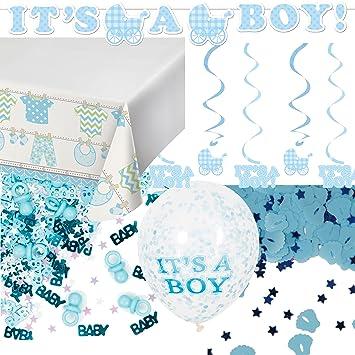 59-teiliges Dekoset * BABY BOY * für eine Baby-Party // mit ...