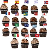 Juvale 200-Pack International World Country Flags Cocktail Party Picks Cupcake Toppers, 2.5 x 1 Inches