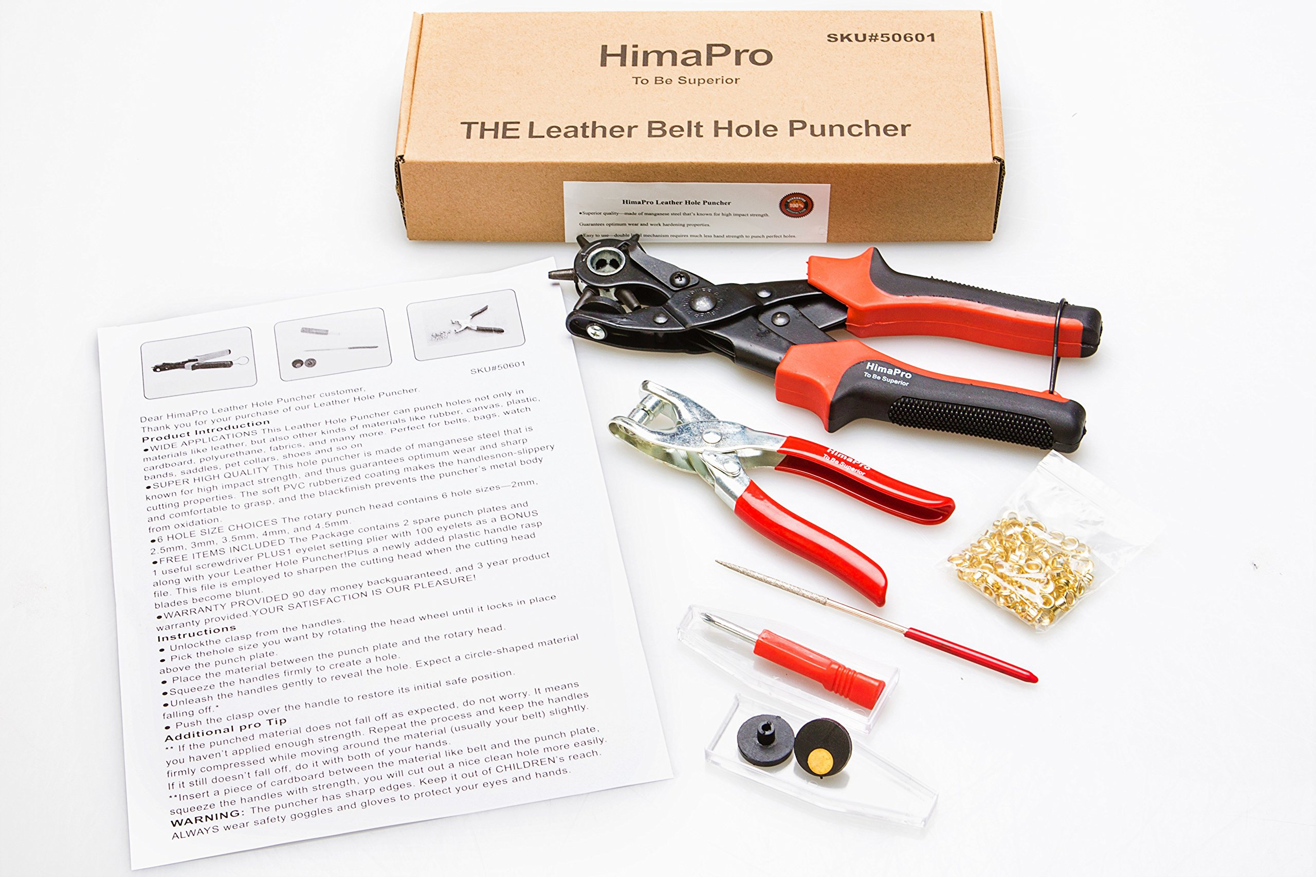 HimaPro Leather Belt Hole Punch Belt Hole Puncher Leather Hole Punch Tool Heavy Duty Rotary Puncher Revolving Belt Hole Punch Plier for Belts Saddles Watch Bands Pet Collars Paper Cardboard by HimaPro (Image #9)