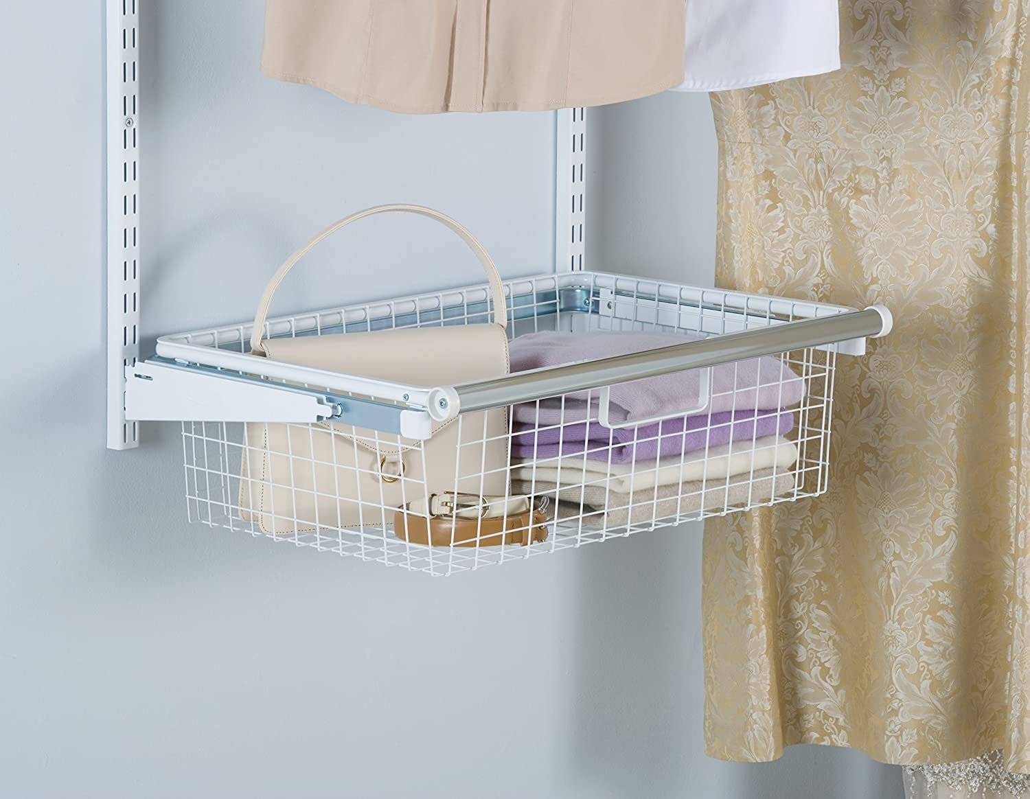 Attirant Amazon.com: Rubbermaid FG3J0503WHT Configurations Sliding Basket   White:  Home U0026 Kitchen