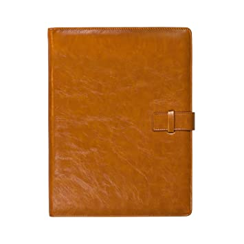 forevermore leather portfolio padfolio professional interview resume folder document organizer with refillable letter