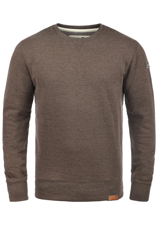 !Solid Trip O-Neck Herren Sweatshirt Pullover Pulli Mit Rundhalsausschnitt Und Fleece-Innenseite