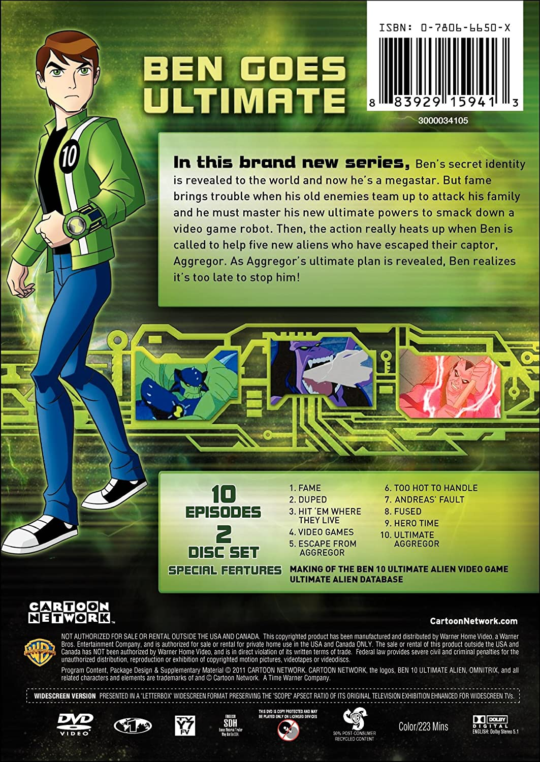 Amazon com: Cartoon Network: Classic Ben 10 Ultimate Alien