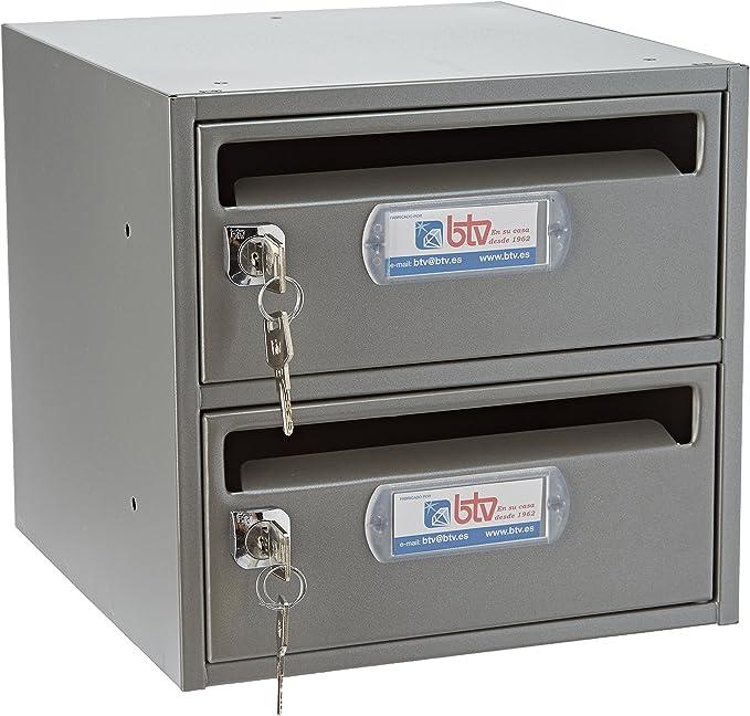 Btv moncayo - Conjunto buzon/es 25 250mm titanio/titanio(2u): Amazon.es: Bricolaje y herramientas