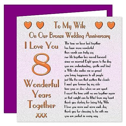 8 Anniversario Di Matrimonio.My Wife Ottavo Anniversario Di Matrimonio Di Bronzo On Our
