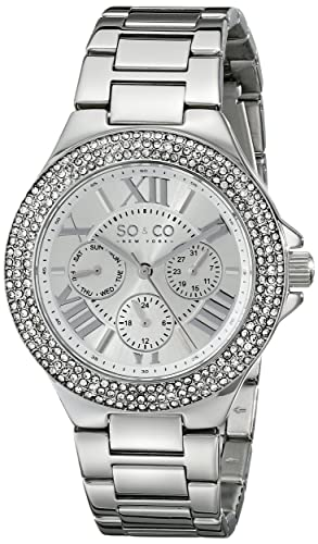 SO & CO New York Madison 5019.1 - Reloj de pulsera Cuarzo Mujer correa deAcero inoxidable