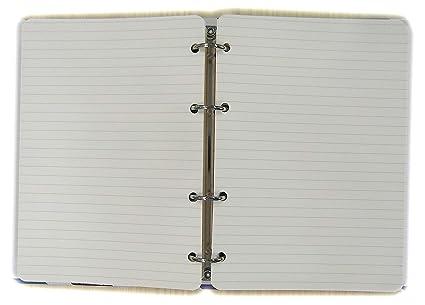 Recambio Papel para Carpeta A5 15x20cm con 4 Agujeros, 200 ...