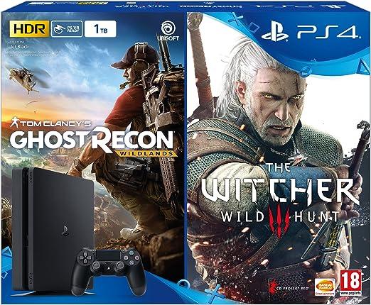 PlayStation 4 Slim (PS4) Consola de 1TB + Ghost Recon Wild Lands + ...