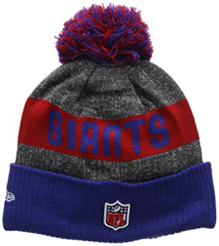 New Era Men s NFL Sideline Bobble Knit New York Giants Beanie ... 2941a1e90