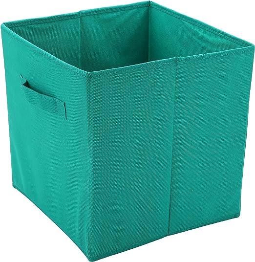 Protenrop Caja de Almacenamiento, Plástico y Poliéster, Verde ...