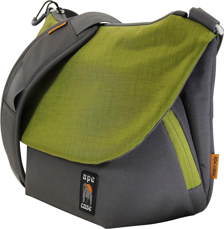 Ape Case, Messenger Bag, Large, Green, Camera Insert Included, Shoulder Strap Included, Tablet Compartment (AC580G)