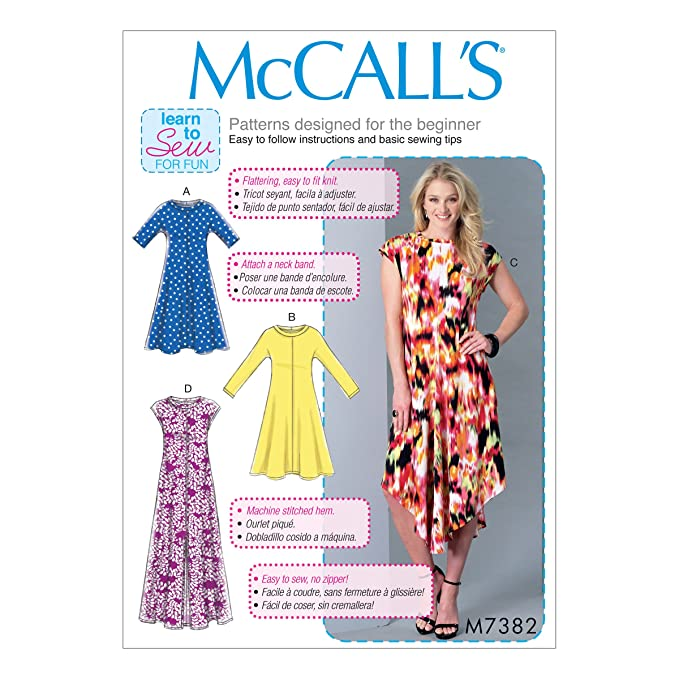 Amazon Mccall Patterns M73820y0 Pullover Knit Dresses Arts