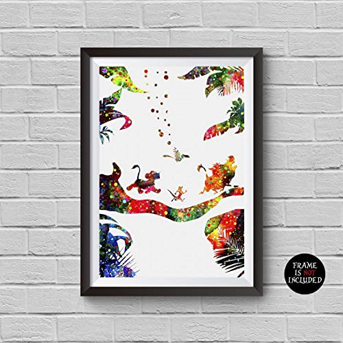 Amazon.com: The Lion King Watercolor Print Disney Hakuna Matata ...