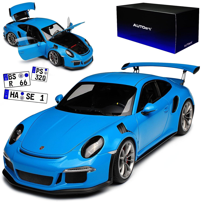 AUTOart Porsche 911 991 GT3 RS Miami Blau Ab 2013 78167 1/18 Modell Auto