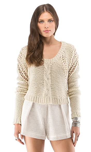 Amazon.com: TWELFTH ST CYNTHIA VINCENT Womens Cropped Cable Knit ...