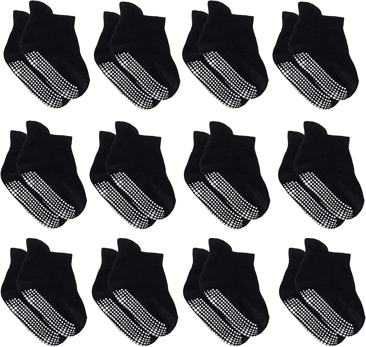 Dicry Baby Ankle Socks with Grips Toddler Girls Boys Non Slip//Anti Skid Socks for Infant Kids 6//12 Pairs