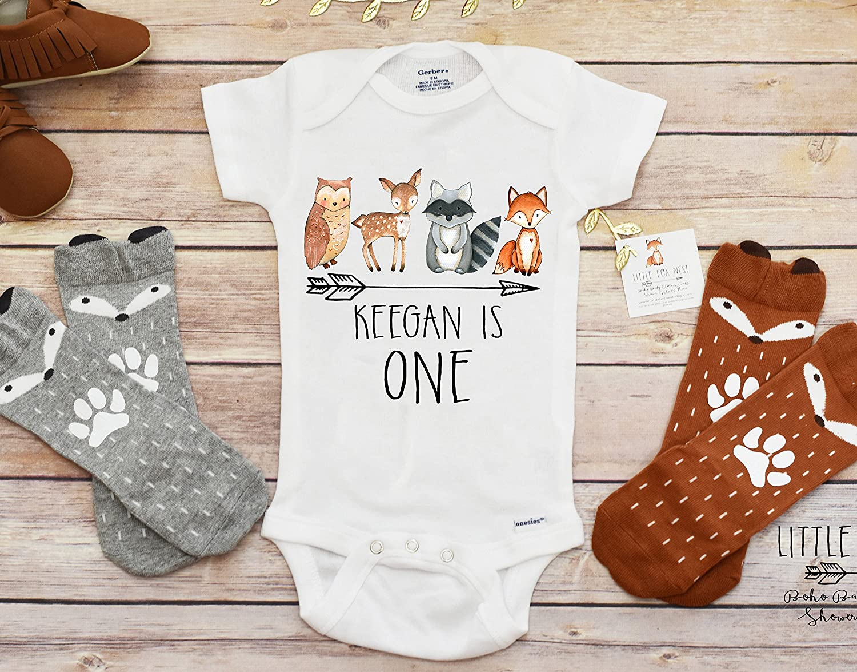 Fall Onesie®, Birthday Onesie®, Baby Boy Clothes, Birthday Shirt, First Birthday Boy, Woodland Creatures Birthday