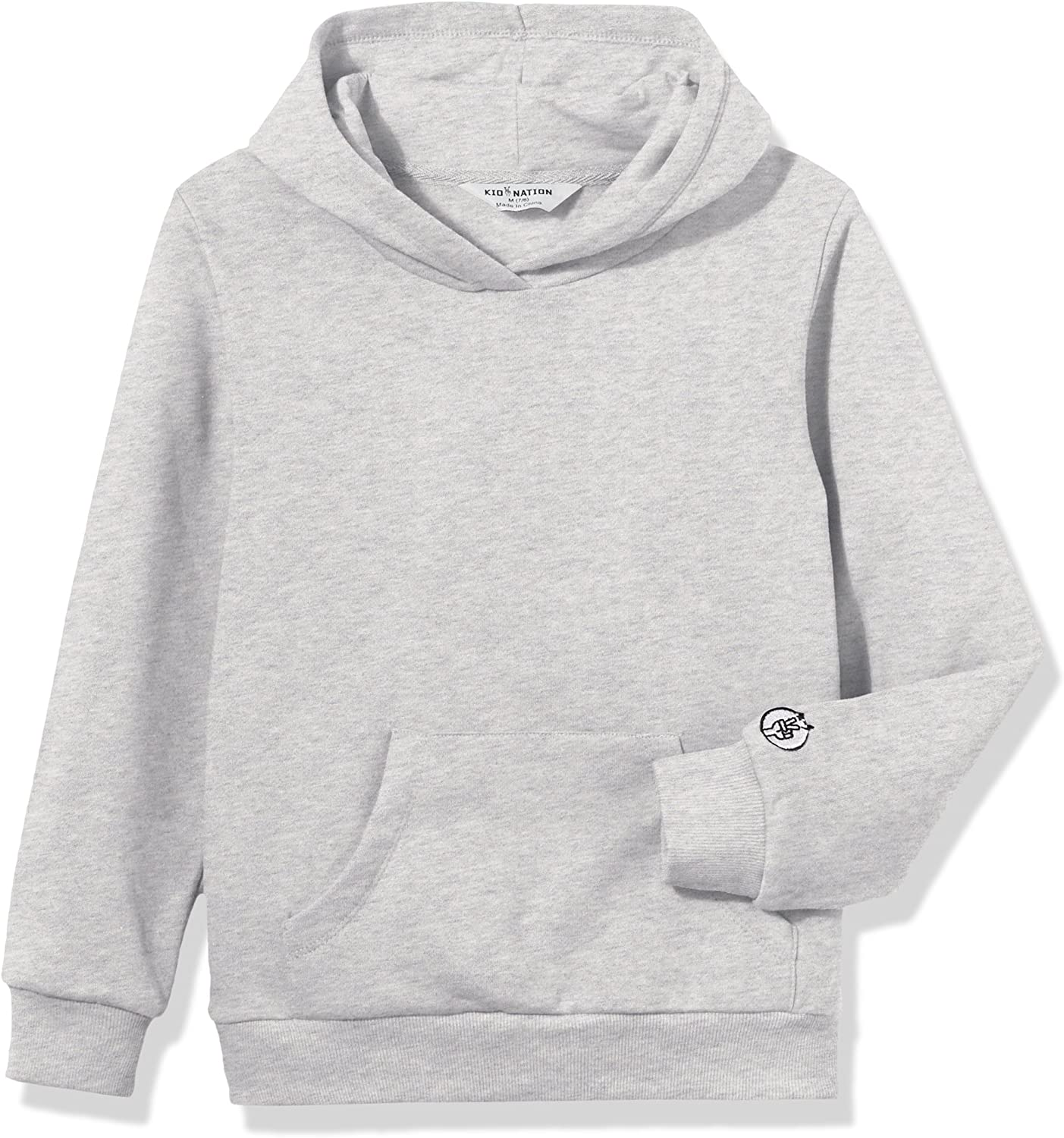 Kid Nation Kids' Soft Brushed Fleece Casual Basic Pullover Hooded Sweatshirt Hoodie for Boys or Girls 4-12 Years: Clothing