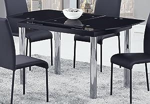 Global Furniture Dining Table, Black