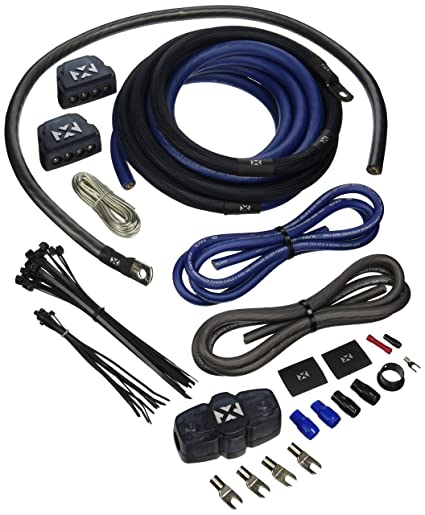 amazon com nvx true spec 1 0 gauge complete dual amp 100 copper rh amazon com dual amp install dual amp wiring kit walmart