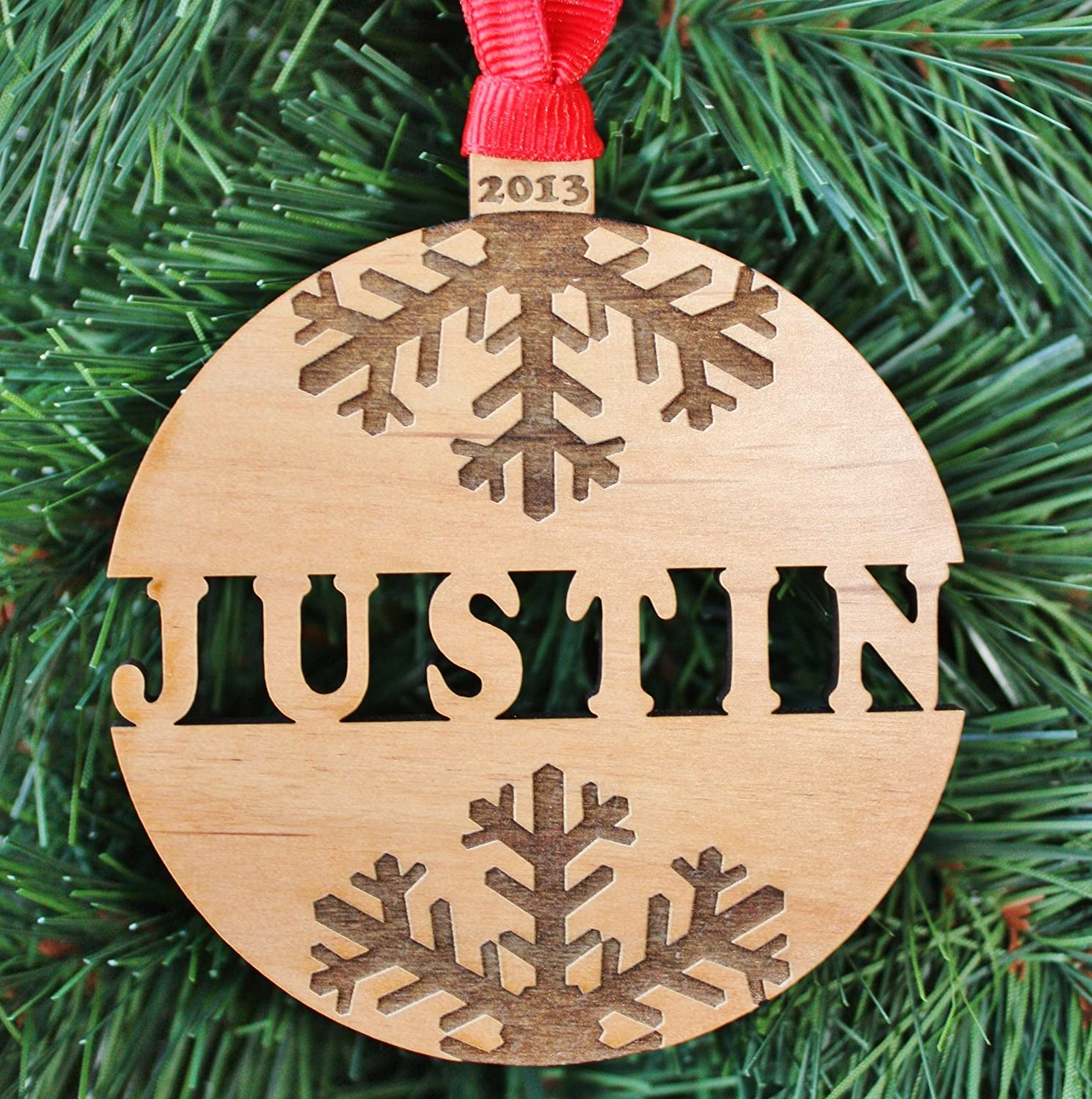 Christmas Ornaments With Names On Them.Personalized Name Christmas Ornament Handmade Engraved Christmas Ornaments Orn09