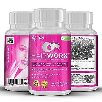hairworx pelo vitamina tabletas para más rápido crecimiento del cabello – Estos pelo suplementos contiene un