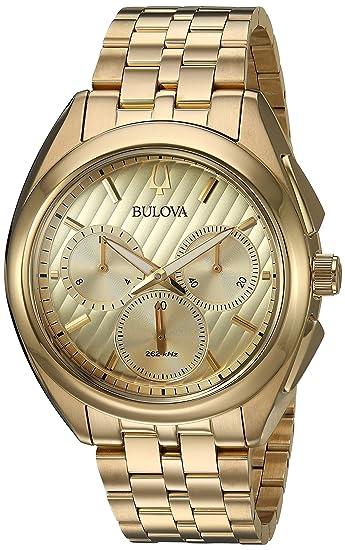 4f59f3aa7 Bulova CURV Chronograph Gold-Tone Stainless Steel Watch 97A125 ...