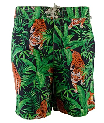 Polo Ralph Lauren Men\u0027s Island Tiger-Print Swim Trunks (38W, Multi)