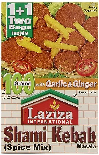 Laziza Shami Kebab Masala, 100-Gram Boxes (Pack of 6)