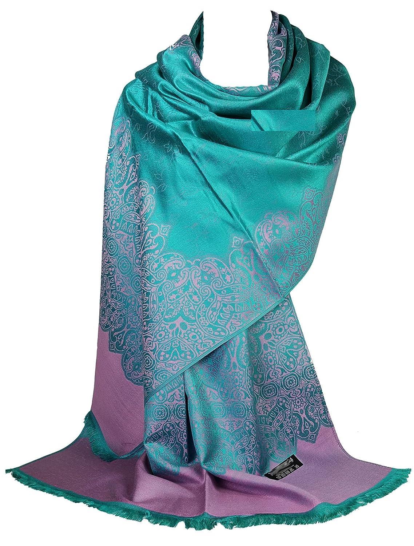 GFM, sciarpa pashmina in stile floreale o motivo paisley