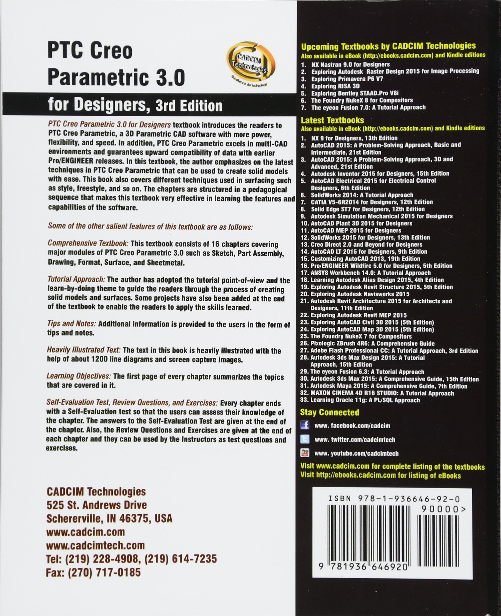 PTC Creo Parametric 30 For Designers Prof Sham Tickoo Purdue Univ Cadcim Technologies 9781936646920 Amazon Books