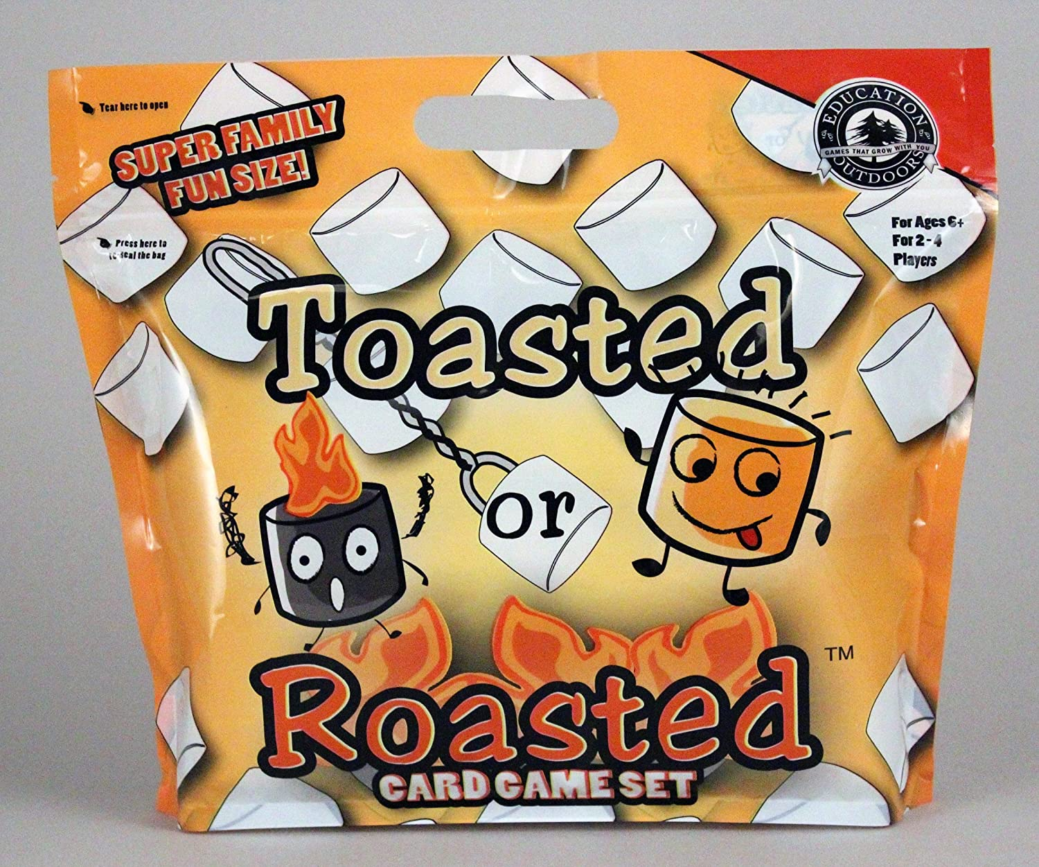 Education Outdoors Toasted or Roasted Card Game Pair of Jacks Games TR1